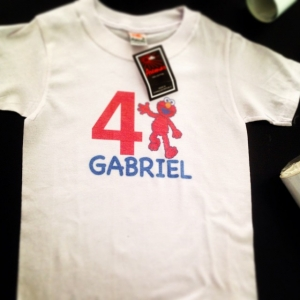 T-shirt Cumpleaños de Gabriel_2